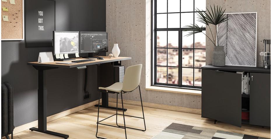 bureau réglable, hauteur, travail debout, maison
